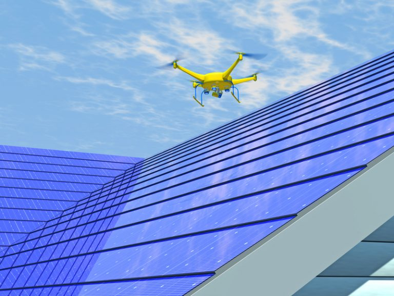 Drones and Solar Panels
